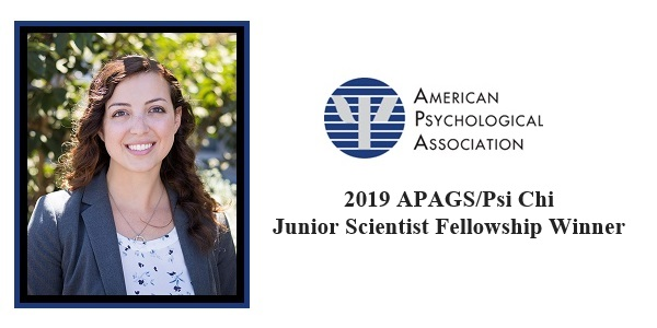 Alexandra Convertino Awarded APAGS/Psi Chi Junior Scientist Fellowship