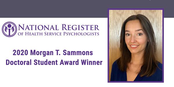 Zanjbeel Mahmood Named 2020 Morgan T. Sammons Doctoral Student Award Winner